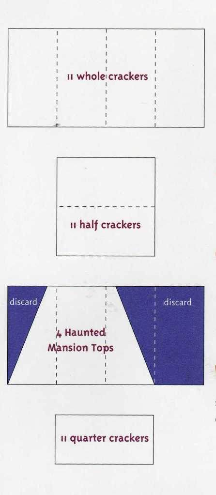 Diagrams for cutting graham crackers